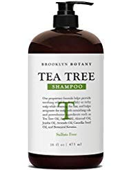 Brooklyn Botany - Tea Tree Oil Shampoo For Dry Itchy & Flaky Scalp - Sulfate Free Hair Cleanser - 16 oz