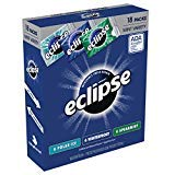 ECLIPSE Gum Sugarfree Chewing Gum Three Flavor Variety Pack, 18 Count per pack, Pack of 18 (3 Case(18 Pack)) ()