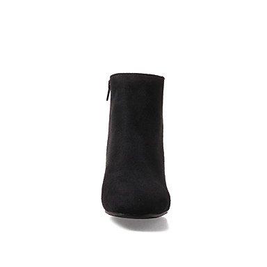Bottine Bottes Bottes Demi Fermeture Automne Hiver Chaussures Botte Pour la Mode Gros à Similicuir Femme Bout Talon Botillons DESY rond nxZvff