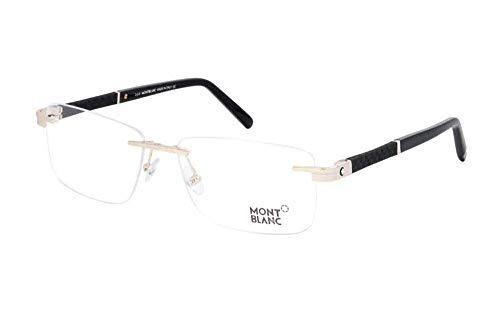 Eyeglasses Mont Blanc MB 0712 032 Golden/Clear - Blanc Mens Mont Eyeglasses