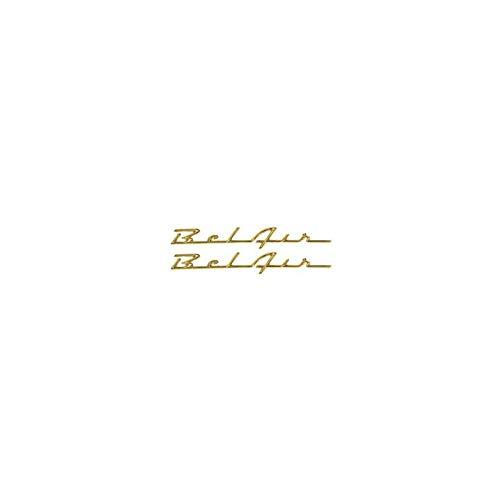 Eckler's Premier Quality Products 57-130566 Chevy Rear Quarter Panel Scripts, Bel Air, Bright Gold, Show Quality,