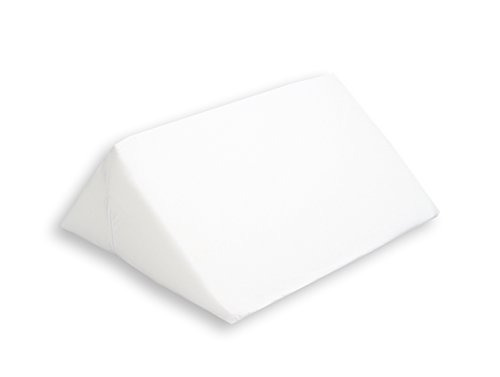 Hermell Knee Rest Wedge Pillow, Improves Circulation, Post-Surgery, Injury Relief, Back Pain Relief, Sciatica Relief, and Varicose Veins Relief, Removable Cover - White by Hermell Products Inc.