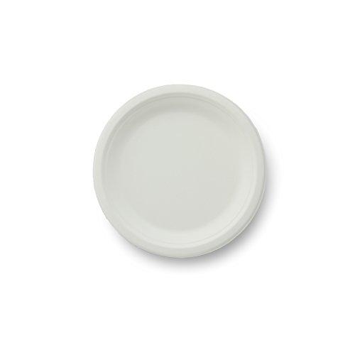Stalkmarket 100% Compostable Sugar Cane Fiber Heavy Duty Plate, 7-Inch, 1000-Count Case]()