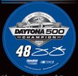 Wincraft Jimmie Johnson Decal - WinCraft Jimmie Johnson 2013 Daytona 500 Champion Round Vinyl Decal