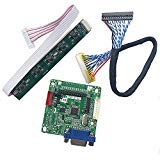 MT561-B Universal LCD Monitor Driver Controller Board for 10 Inch- 42 Inch 5V Screen with 30pin lvds Cable & Keyboard