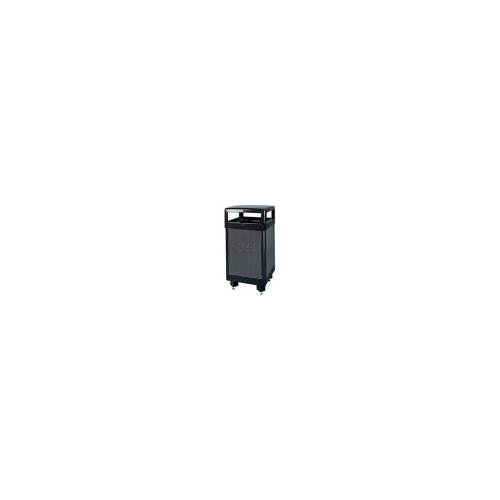 Rubbermaid Commercial Products FGR36HTWU500PL Aspen Series Ash/Trash Refuse Container with Weather Urn (Hinged Top, 29-Gallon) ()