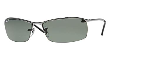 Ray-Ban RB3183 004/9A 63M Gunmetal/Green Polarized Sunglasses For Men
