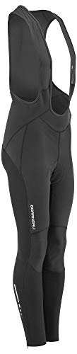 Louis Garneau Men's Providence 2 Cycling Bib Tights with Padded Chamois, Black, Large