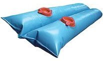 Buffalo Blizzard Blue 8-Foot Long Double Chamber Water Bag | 18 Pack | 22-Gauge Vinyl Material | Secures Winter Cover to Rectangular Swimming Pools ()