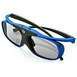 WOWOTO DLP Link 3D Glasses, Rechargeable 3D active Glasses for ALL DLP Projectors and DLP 3D - D&g Spectacles