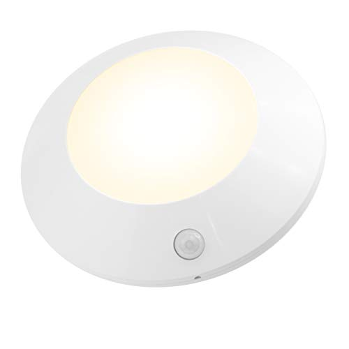 HONWELL Motion Sensor Light Indoor Ceiling Light Wireless Motion Sensor Light Battery Powered LED Warm White Light for Closet Cabinet Kitchen Bathroom Hallway Stairs Shower Wall (5Inch)