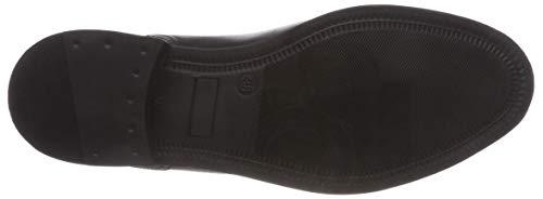Mujer Botines Buffalo d black Negro 00 Para Ambrosia Leather Alfa 01 wBFYTqR