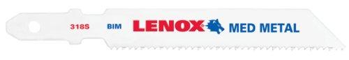 Lenox Tools 20816B318S T-Shank Bi-Metal Medium Metal Jig Saw Blade, 3-5/8-Inch x 3/8-Inch x 18 TPI, 25-Pack ()