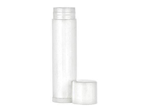 Nakpunar 100 pcs White Empty Lip Balm Tubes - FDA Approved, BPA Free, MADE IN USA (0.15 oz, White - 100 pcs)