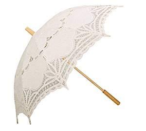 Wedding Umbrellas, Lace Parasol Summer Umbrella for Bridesmaid Bridal Handmade 100% Cotton