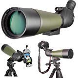 Gosky 20-60 X 80 Porro Prism Spotting Scope- Waterproof Scope for Bird watching Target Shooting Archery Range Outdoor Activities (20-60×80 Scope+Phone Mount+SLR Mount for Canon)
