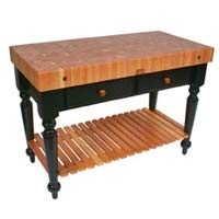 John Boos Rectangular Table in Cherry End Grain Top (30 in. x 24 in.)