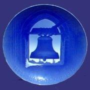 1895-1920 Bing & Grondahl Christmas Jubilee Plate - Church Bells