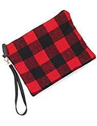 - CCFW Red Tartan Cosmetic Pouch Bag Clutch Handbag Casual Purse Medium (Red)
