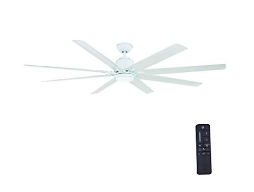 72 inch ceiling fan silver home decorators collection kensgrove 72 in led indooroutdoor white ceiling fan with light kit and remote control