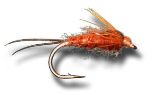 March Brown Nymph Fly Fishing Fly - Size 14 - 6 Pack
