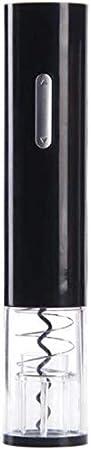 Sacacorchos de vino eléctrico sacacorchos automático profesional vino sacacorchos aluminio hoja cuchillo conjunto cocina herramienta regalo plata negro