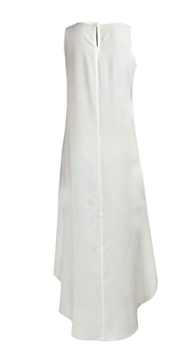 Sundress High Sleeveless White Cromoncent Dress Women Irregular Low Chiffon s Loose fwtqXqpx8P
