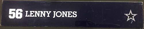(Lenny Jones Game Used Locker Room Name Nameplate 36