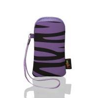 Case Tasche FLEXI zebra violet / black XL passend für iPhone