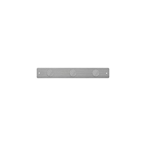 Three By Three Seattle Mini Magnetic Strip Bulletin Board Stainless with 3 Large Magnets-(31204)