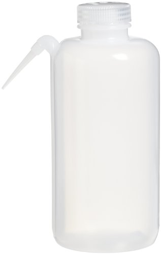Nalgene 2402-1000 Unitary Wash Bottle,  LDPE, 1000mL (Pack of 2) by Nalgene