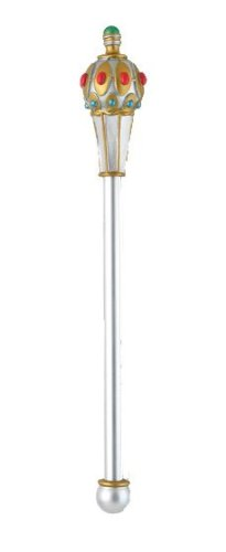 Disguise Men's King's Scepter Costume Accessory, Silver, Adult ()