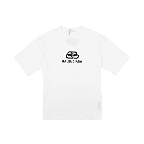 - Balenciaga BB Oversize T-Shirt in Off White Printed Light Jersey (S)