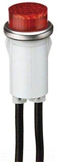 Ideal Raised Indicator Light, Amber, 125 Volt, 1/3 Watt, 777311 - Raised Lens Indicator Light