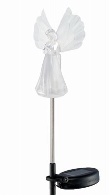 Headwind Consumer Products 830-1389 Solar Stake Light, Angel Topper, Color-Changing LED - Quantity 12 by Headwind Consumer Products