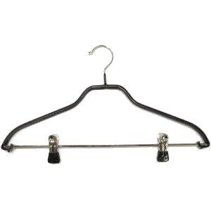 Hagspiel Kleiderbügel aus Metall, 5 Stk. Drahtbügel schwarz ...