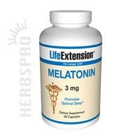 Mélatonine 3 mg 60 capsules (pack de 2)
