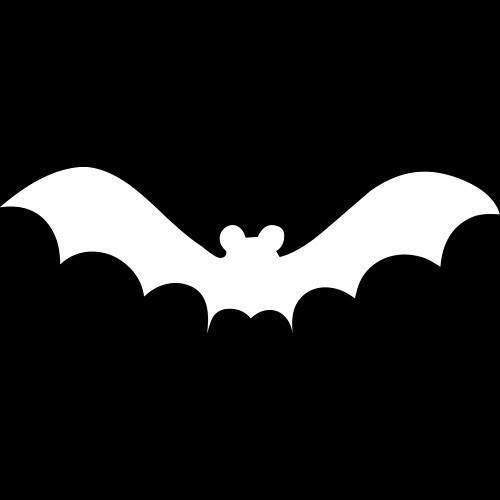 (Halloween Bats Stencil for Crafts Signs)