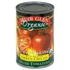 Muir Glen Organic Fire Roasted Diced Tomatoes with Green Chilies -- 14.5 fl oz by Muir Glen