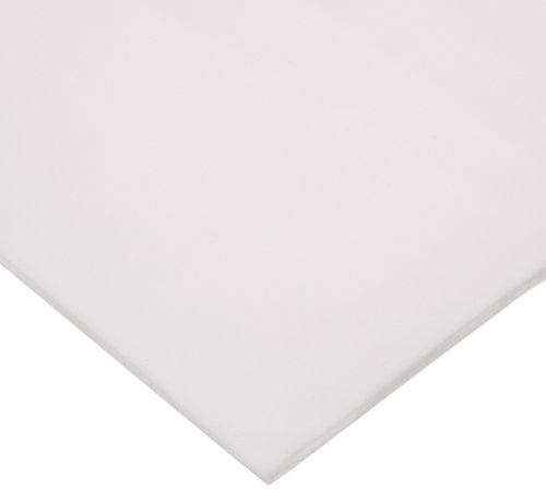 CS Hyde Silicone Foam, Open Cell, Commercial Grade, Light Density, Acrylic Adhesive, 0.125'' Thick, White, 12'' Width, 12'' Length by CS Hyde