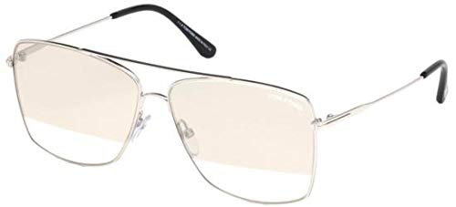 Sunglasses Tom Ford Silver - Tom Ford FT0651 Silver/Smoke Lens Mirror Sunglasses