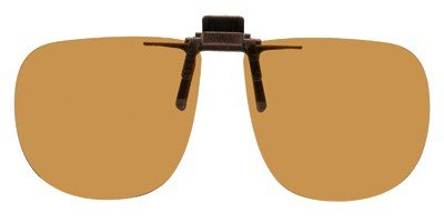 147 Sunglasses - Polarized Bronze Metal Clip On Flip Up Brown Sunglass Lenses, Large Square, 64mm Wide X 56mm High, 147mm Wide with Bridge