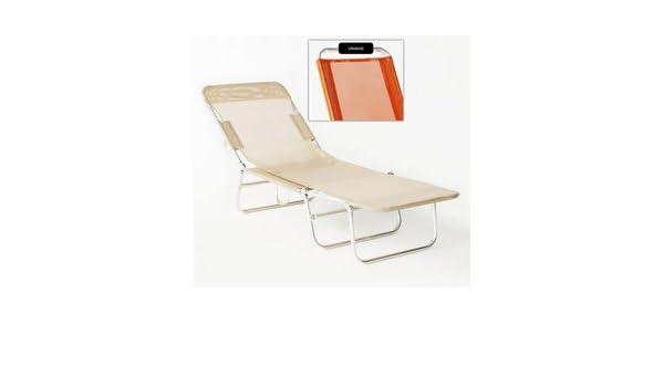 Juego 2 camas Valparaiso 30 naranja: Amazon.es: Jardín