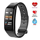Fitness Tracker, Fitness Watch Activity Tracker with Heart Rate Monitor, IP67 Waterproof Color Screen Wristband with Calorie Counter Pedometer Sleep Blood Pressure/Oxygen Monitor for Kids Women Men