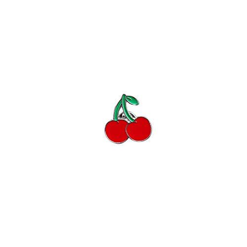 Lipstick Lip Love Heart Cherry Enamel Pin Buttons Mini Badges Cute Bag Clothing Accessories,cherry