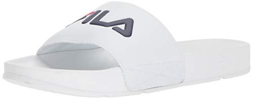 Fila Men's Drifter Sport Sandal, White Navy red, 11 Medium US