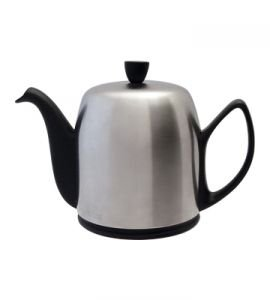 Salam Black Mat 6 Cup Teapot by Guy Degrenne