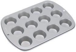 """Bulk Buy: Wilton Recipe Right Non Stick Mini Muffin Pan 12 Cup 11""""X7.8""""X1"""" W2105952 (3-Pack)"""