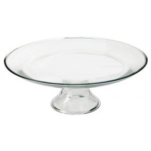 Anchor Hocking Annapolis Cake Plate - Footed - Glass - (Pattern Glass Cake Stand)