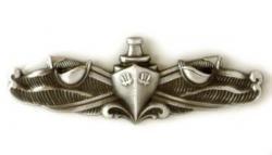 Enlisted Badge - Navy Surface Warfare Enlisted Badge Oxidized Finish - Regulaton